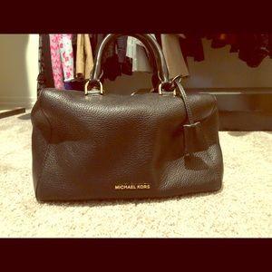 Handbags - Black Michael Kors Pebble Leather Kirby Satchel
